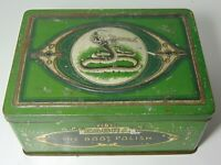 Vintage 1930s COBRA SNAKE GRAPHIC ADVERTISING TIN BOOT POLISH MADE IN ENGLAND