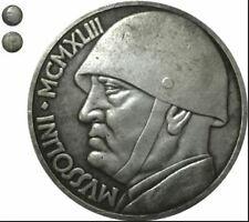 ITALIE 20 Lire Mussolini 1943  Piece Coin Moneta