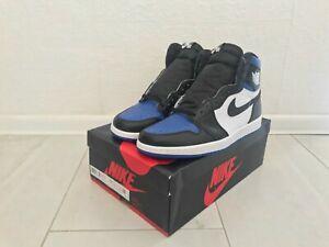 US10 Nike Air Jordan 1 Retro High OG Royal Toe 555088-041