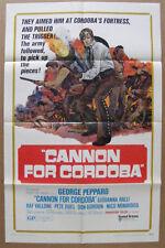 """Cannon for Cordoba"" 1 sh Original Movie Poster Vintage 1970"