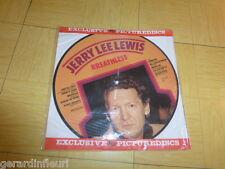 """Jerry Lee Lewis  """"Breatless""""  lp12""""picture disc.denmark.art:pd50010.de 1983"""