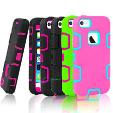 Shockproof Hybrid Rugged Rubber Hard Back Cover Case For Apple iPhone 5 5S SE