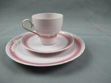 Hutschenreuter Porcelaine Rose mit Gold Verzierung  1x  Kaffeegedeck 3tlg.