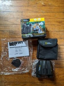 National Geographic 10x25 Compact Porro Binoculars 10x Magnification Bresser