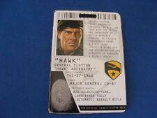 Hawk  File Card  GI Joe  ROC