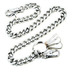 "Strong Basic Leash Heavy Linked Jeans Wallet Key Chain NCS92 (23""*4.9oz) Silver"