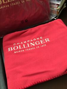 BOLLINGER CHAMPAGNE THROW   EMBROIDERED  IN DUST BAG  BRAND NEW 159 CMS X 97 CMS