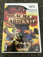 Looney Tunes Acme Arsenal (Nintendo Wii Game) CIB Complete Free Ship