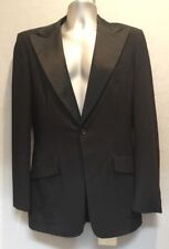 Vintage After Six Mens Black 1 Button Tuxedo Jacket 38/XL
