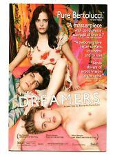 Rack card for the 2003 Bertolucci film The Dreamers. Michael Pitt, Eva Green.