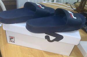 Fila Men's Drifter Navy/Red/White Slides Sandals Shoes
