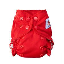 Happy Flute Organic Cotton Newborn AIO Cloth Diaper Double Gussets Reusable
