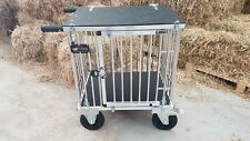 "Titan 1 Berth MEDIUM Aluminium Dog Show Trolley with 8"" All Terrain Wheels"