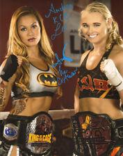 Andrea KGB Lee & Andy Nguyen Signed 11x14 Photo UFC KOTC Belt Picture Autograph