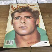 Andy Warhol Interview Magazine Maxwell Caulfield March 1982 Giancarlo Giammetti