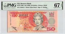 Fiji ND (1996) P-100b PMG Superb Gem UNC 67 EPQ 50 Dollars