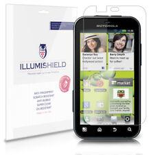 iLLumiShield Anti-Bubble/Print Screen Protector 3x for Motorola Defy Plus