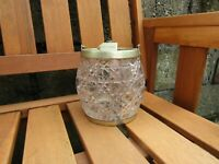 Antique Victorian cut glass and silver plate biscuit barrel - 19th century