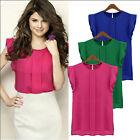 4 Color Women's Casual Loose Sleeveless Chiffon Vest Tank T Shirt Blouse Tops