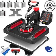 Vevor Heat Press 11in1 Combo 15x12 Sublimation Machine Swing Away Ul Certified