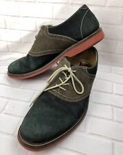 1901 Men's Dress Shoes Casual Lace Up Leather Oxfords Saddle Size 9.5M Green