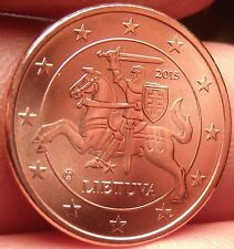 Gem Unc Lithuania 2015 1 Euro Cent~Knight On a Horse~Free Shipping
