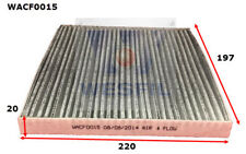 WESFIL CABIN FILTER FOR Toyota Corolla 1.6L 2002-on WACF0015
