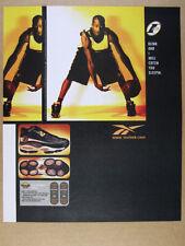 1997 Reebok THE ANSWER DMX 10 shoes Allen Iverson photo vintage print Ad