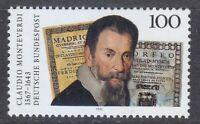 Germany 1993 MNH Mi 1705 Sc 1818 Claudio Monteverdi ,Italian composer **