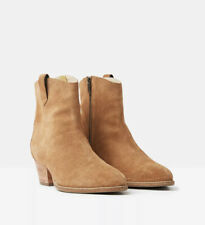 ❤️❤️Joules Womens Elmwood Suede Western Boot - Tan - Adult 4❤️❤️