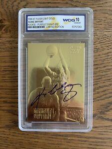 KOBE BRYANT ROOKIE RC CARD 23K GOLD AUTO LA Lakers Graded GEM Mint 10 Rare