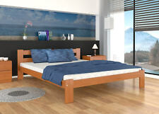 DOUBLE SOLID PINE WOOD BED 140x200 +PINE SLATS +MATTRESS +FREE DELIVERY