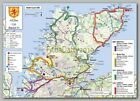 Handy and Durable Laminated Scotland North Coast NC500 A4 Map Inc Dry Marker