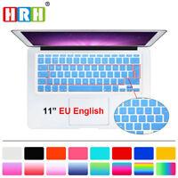 "Slim EU Silicone Keyboard Skin Cover Protector for Macbook Air 11.6"" A1370 A1465"