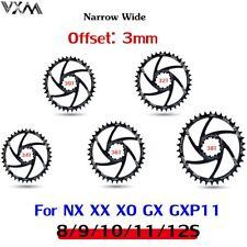 MTB Bike GXP Offset 3mm Chainring 30-40T Narrow Wide Bicycle Chainwheel CNC