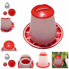 1.5kg Red-Plastic Feeder Chicken Hen Poultry Drinkers Waterer with Lid & Handles