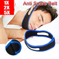 1/2/5X Snore Stop Belt Anti Snoring Strap Sleep Aid TMJ Apnea Jaw Solution 2.5FT