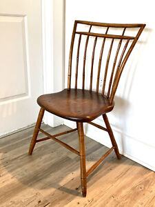 Early American Rod Back Birdcage Windsor Side Chair circa 1800
