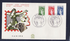 enveloppe 1er jour  Sabine  série de septembre    1981