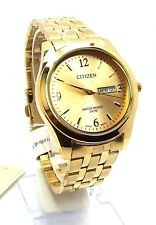 New Citizen Man  Gold-tone, Gold-dial, Day-date-window Dress Watch