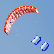 NEW 1.4m Power Kite outdoor Toys Parafoil Parachute orange DUAL LINE surfing