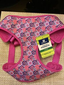 """~NWT~ TOP PAW LARGE Sport Comfort Dog Harness-PADDED - PINK FLORAL 28-34"""""""