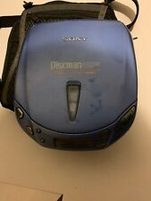 Sony Discman D-E445 CD Compact Player - No Battery Cover With Carry Bag
