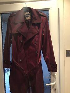 Principles by Ben de Lisi trench coat, wine, size 20 New Unwanted Present