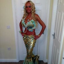 mermaid corset costume  810 12 14 made to measure Ariel pirate