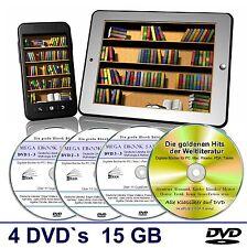 E Book Sammlung auf 4 DVD's, Über 15 GB  ? Kinder, Krimi, Abenteuer Romane uvm