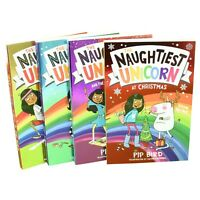 Naughtiest Unicorn Series 4 Books Children Collection Paperback Set By Pip Bird