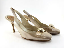 Christian Dior Metallic Leather Slingbacks, Women's Shoes Size US 7.5 /EU 37.5