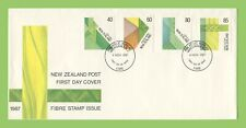 New Zealand 1987 Fibre Stamps Issue First Day Cover