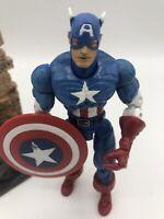 "Marvel Legends 2002 Series I CAPTAIN AMERICA BASE 6"" LooseFigure Toybiz AVENGERS"